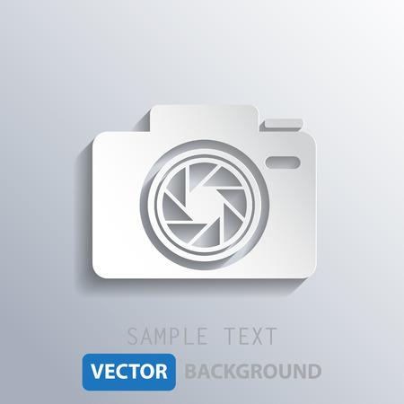 len: white camera shutter background, vector eps10.