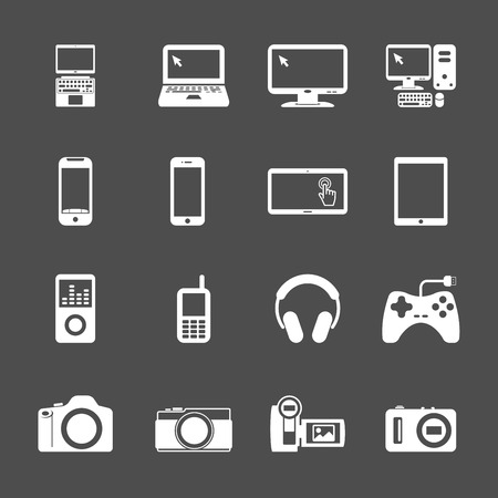 electronic devices icon set, vector eps10 . Vector
