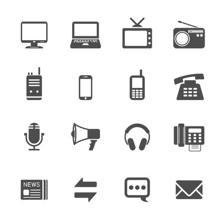 communication icon set, vector eps10. Vector