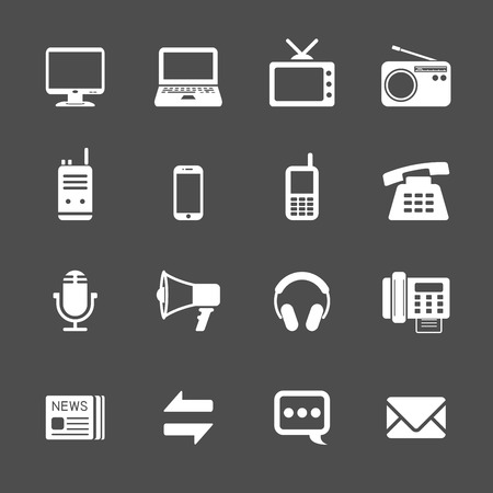 talkie: communication icon set, vector eps10. Illustration