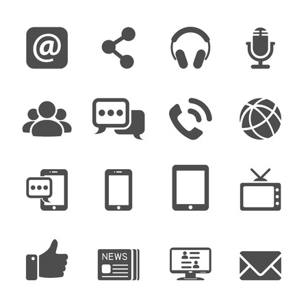 printing icon: internet communication icon set, vector eps10. Illustration