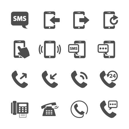 phone device communication icon set, vector eps10.