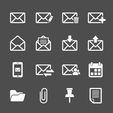 plus icon: email icon set, vector eps10.