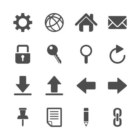 global settings: website icon set, vector eps10.