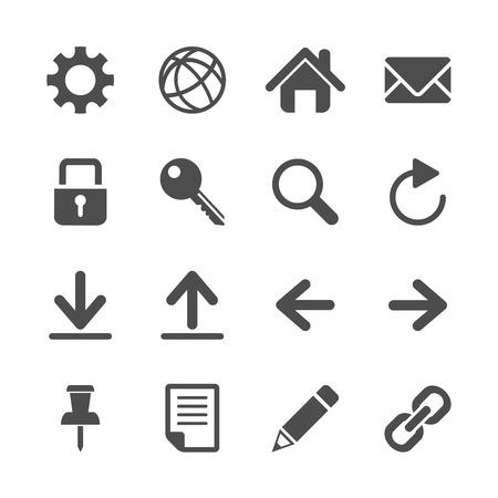 pencil writing: website icon set, vector eps10.