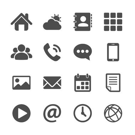 smart phone application icon set, vector eps10.