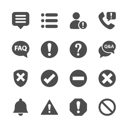notification: notification and information icon set, vector eps10.