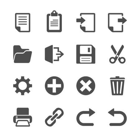 duplicate: toolbar icon set, vector eps10.