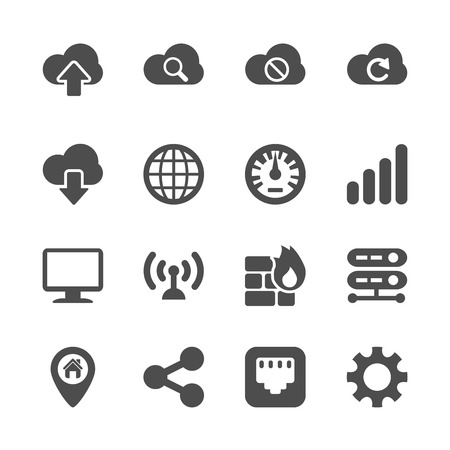 ethernet: computer network icon set, vector eps10.