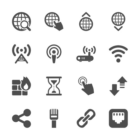 networking: network icon set, vector eps10.