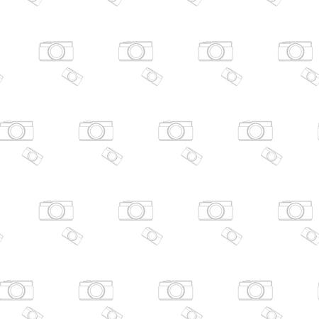 seamless pattern vintage camera, vector eps10. Vector