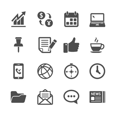 call history: business and office work icon set, vector eps10. Illustration