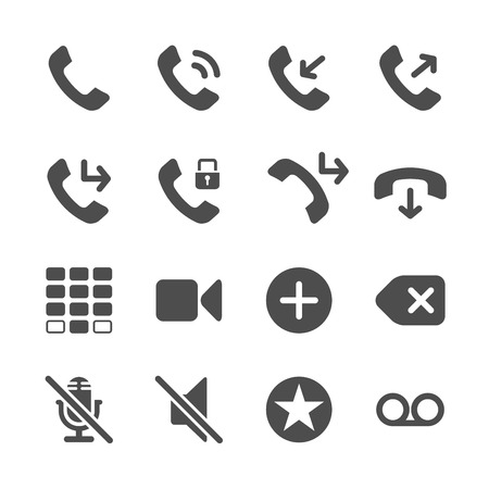 miss call: telephone application icon set, vector eps10.