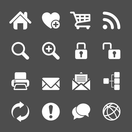 envelope: website communication and internet icon set, vector eps10.