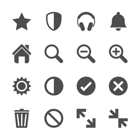 resize: computer and website menu icon set, vector eps10.