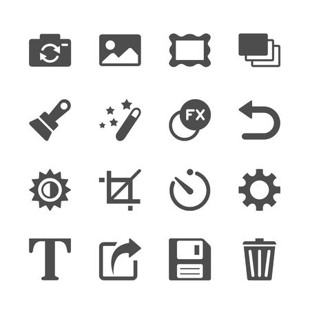 retouch: camera application icon set, vector eps10.