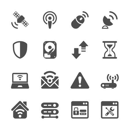 transmitting: wireless network technology icon set, vector eps10. Illustration