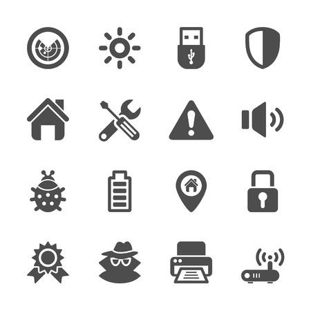 security icon set, vector eps10. Vector