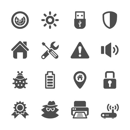 geotag: security icon set, vector eps10.