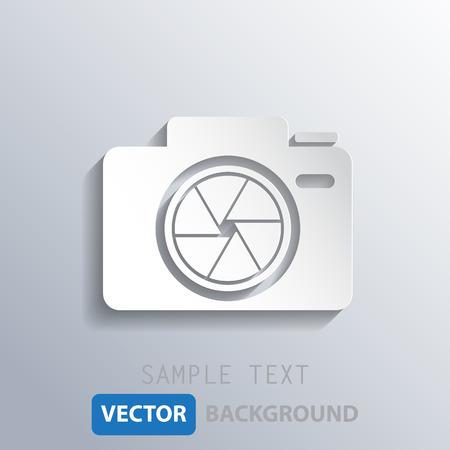 len: white camera shutter background