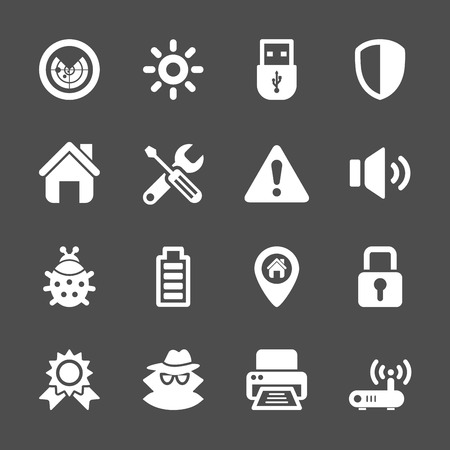 geotag: security icon set Illustration