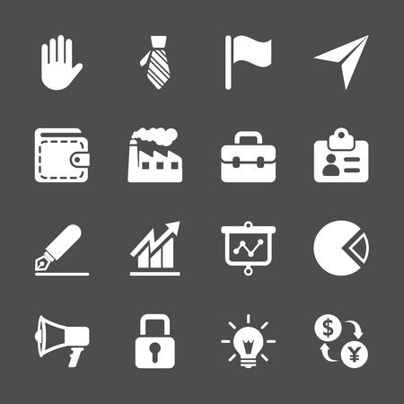 pr: business icon set