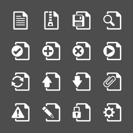 documents: file document icon set