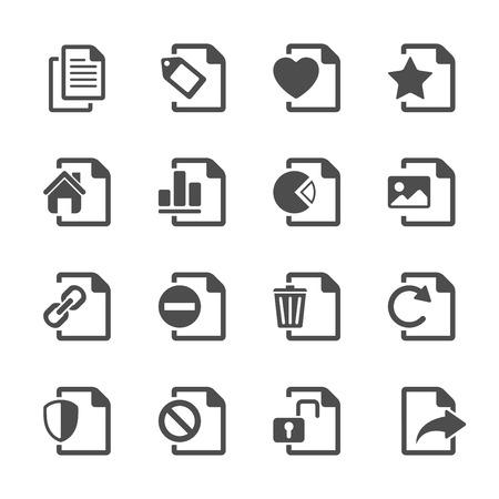 delete: file document icon set 2
