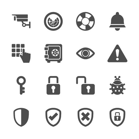 website security: security icon set 2 Illustration