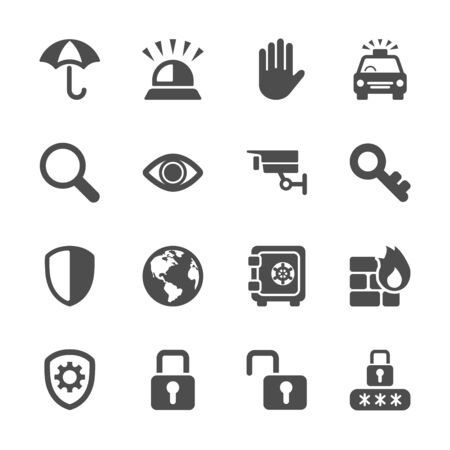 umbella: security icon set 3