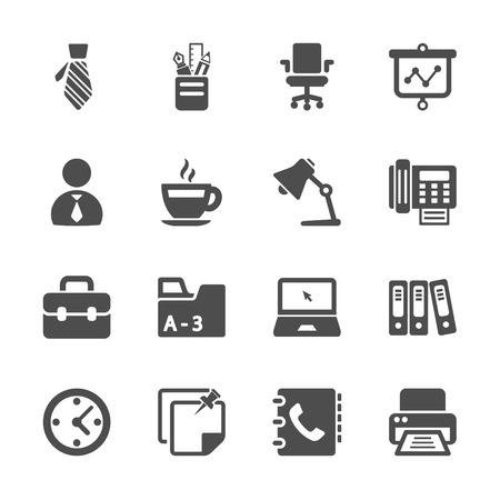 work office: oficina icono de trabajo conjunto Vectores