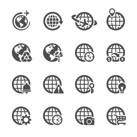 global communication icon set 2, vector eps10. Vector