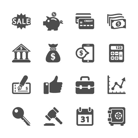 finance and business icon set, vector eps10. Illustration