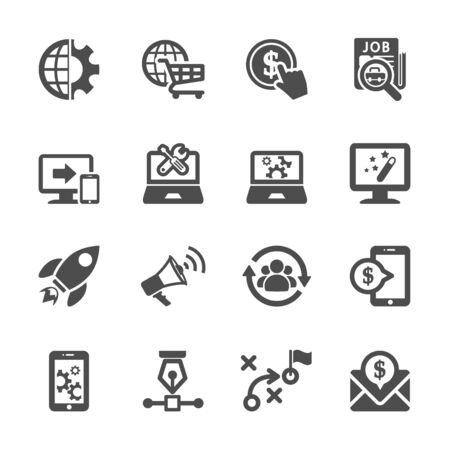 seo and marketing icon set Vector