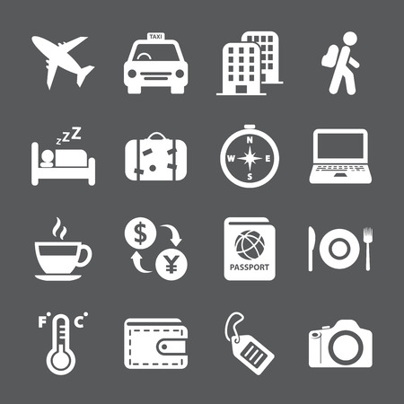 sleeping car: travel and tourism icon set, vector