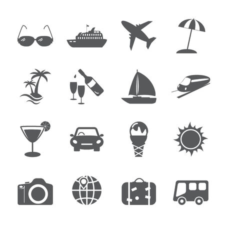 umbella: travel and tourism icon set, vector