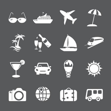 umbella: travel and tourism icon set, vector eps10. Illustration
