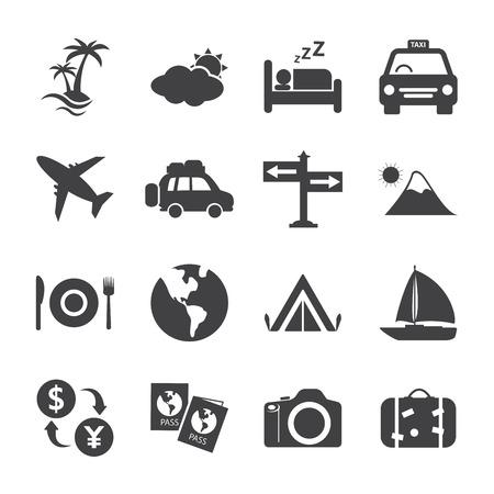 Conjunto de icono de viajes y Turismo Foto de archivo - 32767906