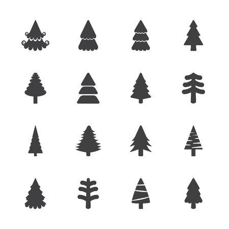 pine tree: christmas tree icon set, vector eps10.