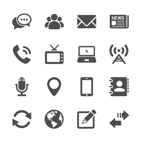 communication device icon set 2, vector eps10.  イラスト・ベクター素材