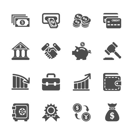 money pig: finance and money icon set
