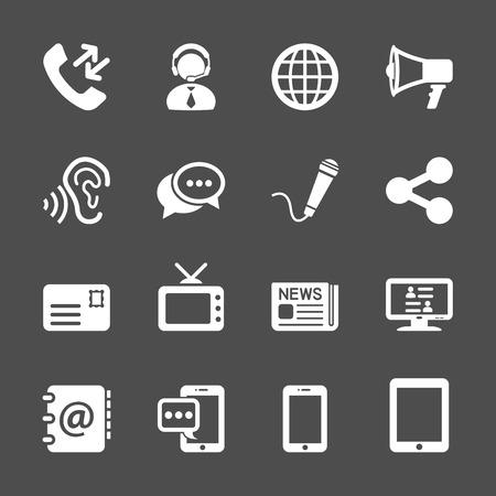communication: communication icon set Illustration