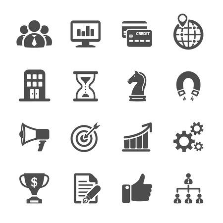 zakelijke en financiële pictogram set, vector eps10. Stock Illustratie