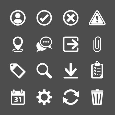 icon contact: toolbar icon set, vector eps10.