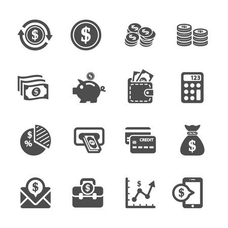 money icon set 向量圖像