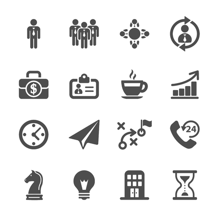 conference call: business strategy icon set, vector eps10.