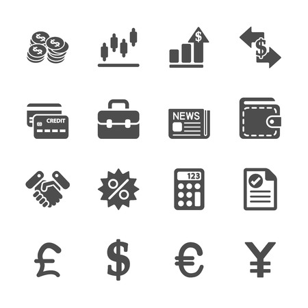 pounds: finance and money icon set, vector eps10. Illustration