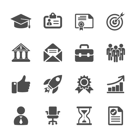 carrière werk icon set, vector eps10.