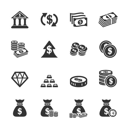 cash flows: money icon set, vector eps10. Illustration