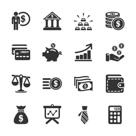 contabilidad financiera cuentas: finanzas conjunto de iconos, vector eps10. Vectores